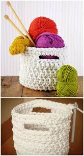 free crochet patterns for home decor crochet basket patterns to organize your home crochet basket