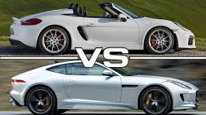 porsche boxster vs 911 2016 porsche boxster spyder vs 2016 jaguar f type