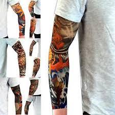 nylon tattoo fancy dress colourful sleeve party dress up fake