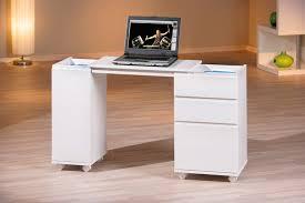 bureau blanc tiroir bureau 1 porte 3 tiroirs laptop blanc