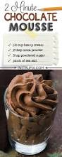 easy 2 minute chocolate mousse recipe