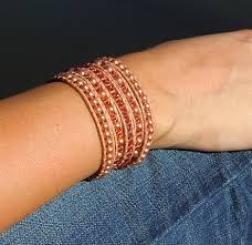 leather bracelet with swarovski crystal images Swarovski crystal pearl leather wrap bracelets onsra designer jpg