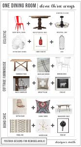Global Decor Styles Remodelaholic One Dining Room Three Different Ways