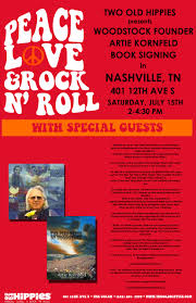 spirit halloween bloomington il book signing woodstock founder artie kornfeld presented by two