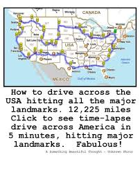 how to drive across the usa hitting all the major landmarks