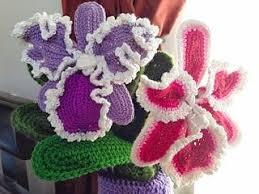 Crochet Designs Flowers 215 Best Crochet Flowers Images On Pinterest Crocheted Flowers