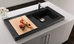 decorating double bowl blanco sinks and silver kitchen faucet on