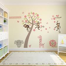 angel wall stickers pastel blossom tree with animals wall sticker wall stickers
