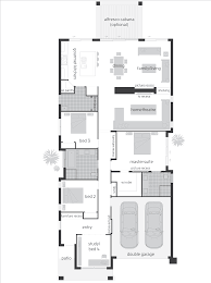 Floor Plans For Narrow Blocks Pictures On Home Frontage Free Home Designs Photos Ideas