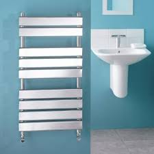 signelle designer flat panel chrome towel radiator rail 37 4