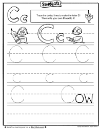 number names worksheets letter c tracing page free printable