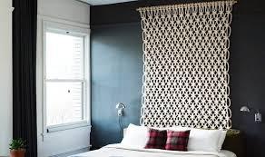 deco chambre tete de lit design interieur tête lit déco chambre rideau crochet suspendu