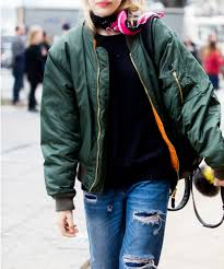 how to wear a bomber jacket instyle com