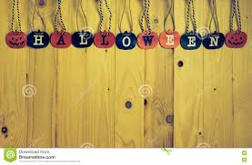paper screen halloween letter on wood stock photo image 80728616