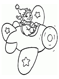 kids aeroplane coloring pages