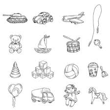 sketch of cars vector illustration royalty free stock image