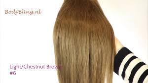 Light Brown Hair Extensions Hair Extensions Kleur 6 Light Chestnut Brown Youtube