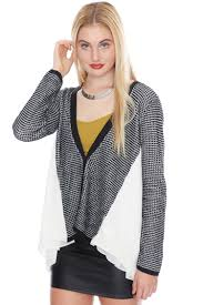 Draped Cardigan Sweater Diamond Motif Button Down Cardigan Sweater Sweaters U0026 Knits