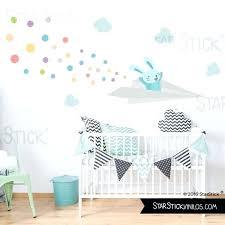 chambre lapin sticker enfant avion lapin lapin avec lavion de papier sticker