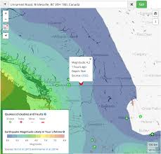 British Columbia Canada Map by M U003d4 2 Earthquake Strikes Beneath Mount Baldy Ski Resort In British
