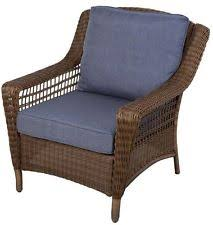 charlottetown brown all weather wicker patio lounge chair w green