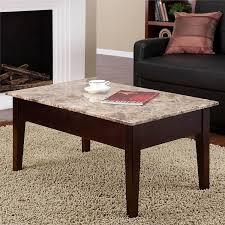 amazon com dorel living faux marble lift coffee table