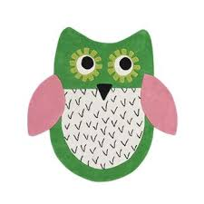 Purple Owl Rug Little Owl Emerald Rug Designers Guild Kids