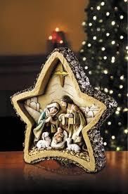 star shaped jesus woodgrain christmas nativity scene christmas