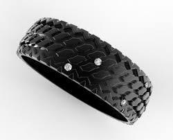 tire wedding ring s tire tread wedding ring in black gold vidar