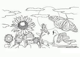 free printable nature coloring pages for kids best coloring