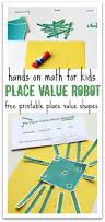 place value robot math activity no time for flash cards
