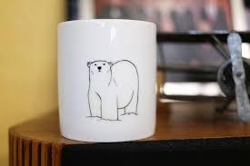 hand painted animal mug cup cute mug cup polar bear mug cup