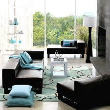 Black Leather Sleeper Sofa by Minimalist Design Of Narrow Warm Living Room Ideas With Black