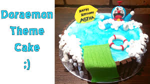 birthday cake doraemon cake recipe for kids in hindi eggless