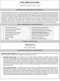 Sample Resume Of Experienced Mechanical Engineer by Mechanical Engineering Resume Templates Uxhandy Com