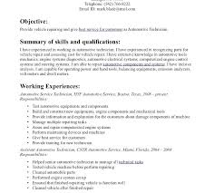 automotive technician resume exles resume automotive technician resume sle stunning auto mechanic