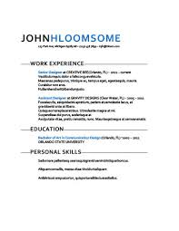 Sample Of Resume With Work Experience by Simple Resume Templates 75 Examples Free Download
