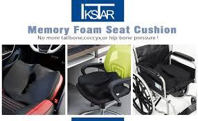 Back And Seat Cushion Amazon Com Orthopedic Coccyx Memory Foam Seat Cushion To Help