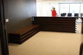 Modern Reception Desk Santa Monica Mid Century Modern Reception Desk And Bench U2013 Mortise
