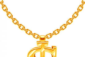 hip hop style necklace images Gold dollar symbol on golden chain vector hip hop rap style jpg