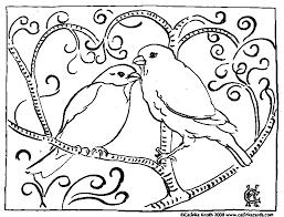 coloring pages adults valentine birds coloring
