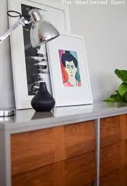 high gloss lacquered mid century dresser hometalk