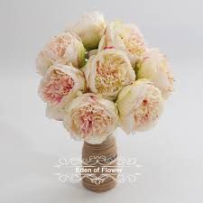 pink silk peony flowers for wedding bridal bouquets home
