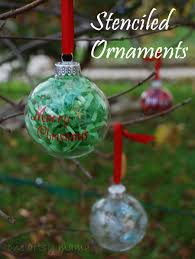 stenciled glass ornaments one artsy