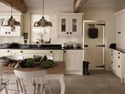 kitchen cabinets french country style sleek black electric stove
