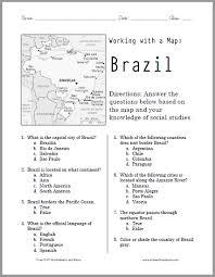 brazil map worksheet student handouts