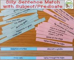 silly sentence match up with subjects and predicates crockett u0027s