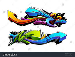 graffiti design graffiti arrows designs vector illustration stock vector 164321312