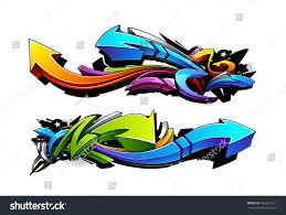 graffiti design graffiti arrows designs vector illustration stock vector 164321312