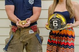 firefighter wedding and department themed weddings and engagement photos